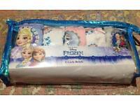 Girls frozen briefs size 3/4 new