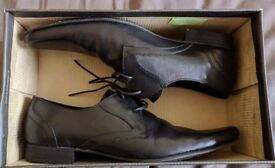 'H by Hudson' Livingston Lace-Up Black Formal Shoes - mens size 10.5 uk.