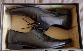 'H by Hudson' Livingston Lace-Up Black Formal Shoes - mens size 10.5 uk.