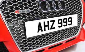 AHZ 999 Ni Dateless Personalised Number Plate Audi BMW Ford Golf Mercedes Kia Vauxhall