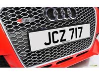 JCZ 717 Personalised Number Plate Audi BMW Volvo Ford Evo Subaru Honda Toyota Kia GTI M3 RS