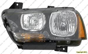 Head Lamp Driver Side Halogen High Quality Dodge Charger 2011-2014