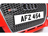 AFZ 454 Dateless Personalised Number Plate Audi BMW Ford Golf Mercedes Kia Vauxhall