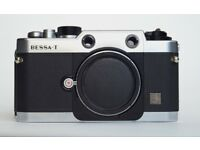 Voigtlander Bessa T 35mm Leica M mount rangefinder film camera body with leather case £245