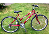 Ladies / teen bike for sale, 26 inch wheels, v good condition