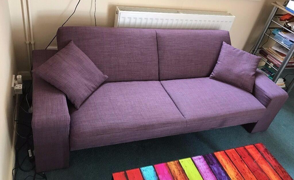 Cuba Fabric Sofa Bed Purple