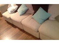 75 pounds O.N.O ! *5-seat corner Sofa/3+2 seater into any shape*
