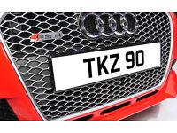 TKZ 90 Rare Dateless Personalised Number Plate Audi BMW Ford Golf Mercedes Kia Vauxhall