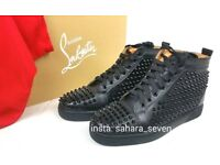 Mens Christian Louboutin Spikes £120 Shoes Spike Boots Red Sole