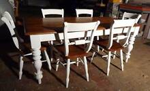 French Farmhouse Country rustic kitchen dining table 6 chairs South Guildford Swan Area Preview
