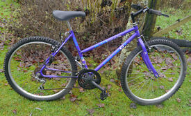 "Peugeot lady's bike, 18 gears, 18"" medium frame, 26"" wheels, mtb"