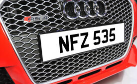 NFZ 535 Dateless Personalised Number Plate Audi BMW Ford Golf Mercedes Kia Vauxhall