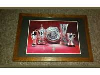 Liverpool fc framed trophy wins picture