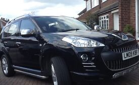 Peugeot 4007 Sport Diesel FPSH 4x4 switchable Full Upgraded Leather Black, chrome detailing, 2.2