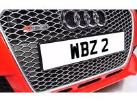 WBZ 2 Single Digit Dateless Personalised Number Plate Audi BMW Ford Golf Mercedes Kia Vauxhall