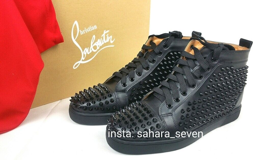competitive price bc34f 974cf Mens Louboutin Spike Boots Design Black shoes with Red Sole £120 | in  Hammersmith, London | Gumtree