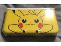 3DS XL - Limited Pikachu Edition with protective case, carrying case and 2 games
