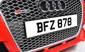 BFZ 878 Dateless Personalised Number Plate Audi BMW Ford Golf Mercedes Kia Vauxhall