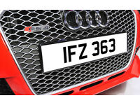 IFZ 363 Dateless Personalised Number Plate Audi BMW Ford Golf Mercedes Kia Vauxhall