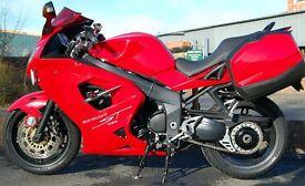 2010 TRIUMPH SPRINT ST 1050 RED FULL LUGGAGE
