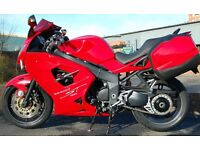 2010 TRIUMPH SPRINT ST 1050 RED FULL LUGGAGE