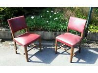 Leather Top Solid Wood Chairs