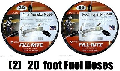 2 Tuthill Frh10020 Fill-rite 1 X 20 Fuel Pump Transfer Hoses W Static Wire