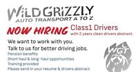 Wild Grizzly Transport is Hiring Class 1 Drivers
