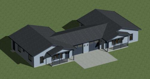 DUPLEX HOUSE PLANS MODEL 2160