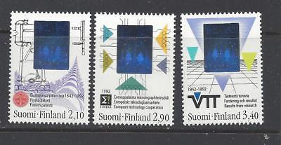 FINLAND - 886 - 888  - MNH - 1992 - WITH HOLOGRAPHIC IMAGES