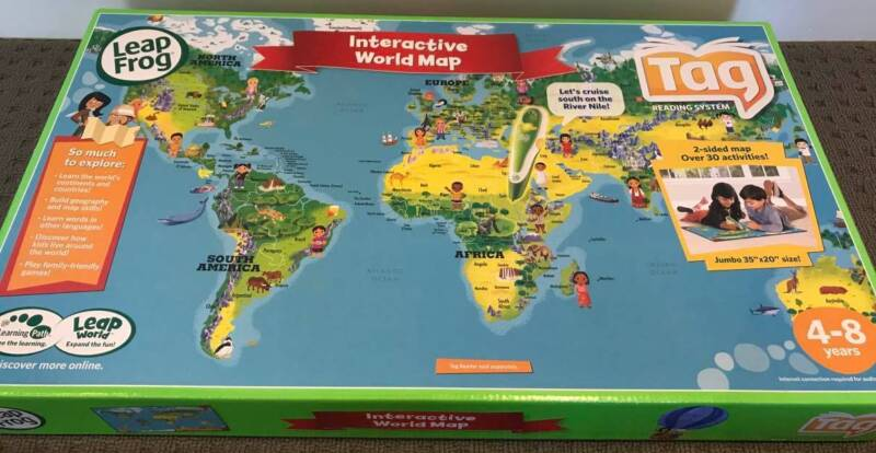 Leapfrog interactive world map and tag reader toys indoor leapfrog interactive world map and tag reader hornsby hornsby area image 2 1 of 2 gumiabroncs Gallery