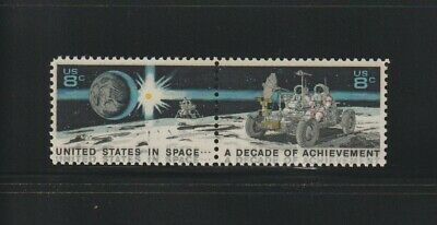 US EFO, ERROR Stamps: #1435b Space, Moon. Black inscription doubled! MNH