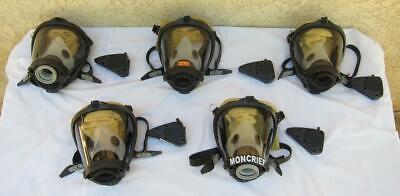 Survivair Sperian Scba Fire Rescue Respirator Mask W Amplifier - 5 Masks
