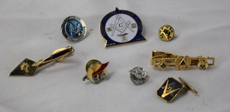 Masonic Lodge Lot Lapel Pins Tie Tacks Cufflink