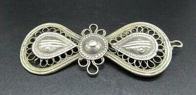 Ottoman Turkish silver brooch, 19th century ad