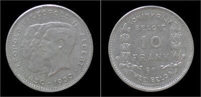 Belgium Albert I 10 frank (2 belga) 1930VL-pos B