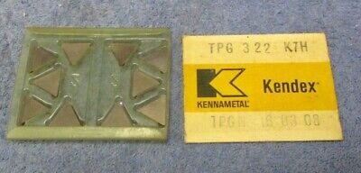 Kennametal  Carbide Inserts  Tpg 322 Grade K7h  Pack Of 10