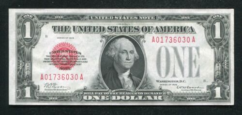 FR. 1500 1928 $1 RED SEAL LEGAL TENDER UNITED STATES NOTE CHOICE UNCIRCULATED