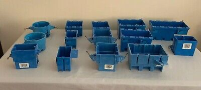Carlon Electrical Gang Boxes Lot Of 14 - Various Sizes