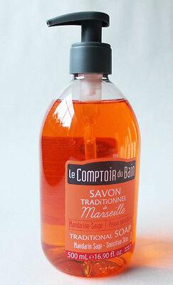 (17,98€/L) Marseille Natur Flüssigseife Mandarine Salbei 500 ml Handseife Damen