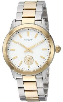 Tory Burch TBW1306 Collins Cream Dial Two Tone Gold Silver Stainless Steel Watch