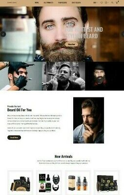 Shopify Store Dropshipping Beard Oil Website Unlimited Free Trialno Monthly Fee