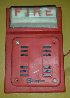 Simplex Fire Alarm Red Flash Horn Strobe Wall Mount Combo 4903-9101