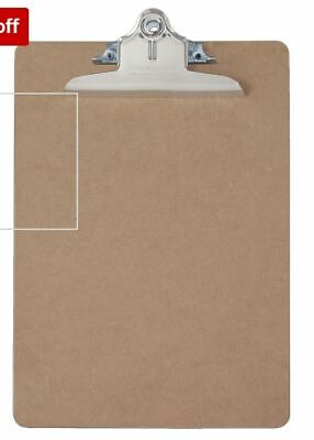Saunders Recycled Hardboard Clipboard Letter Size Brown