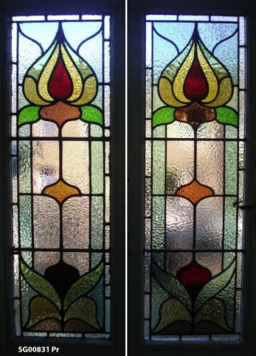 Art Nouveau Beautiful Stained glass windows