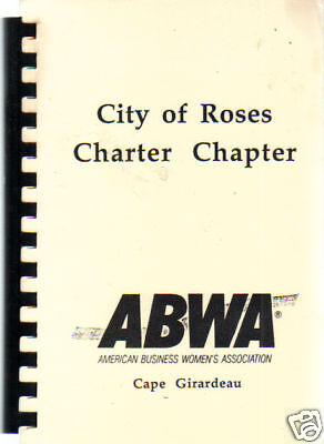 *CAPE GIRARDEAU MO VINTAGE *MISSOURI COOK BOOK *CITY OF ROSES *ABWA WOMEN'S - City Of Cape Girardeau