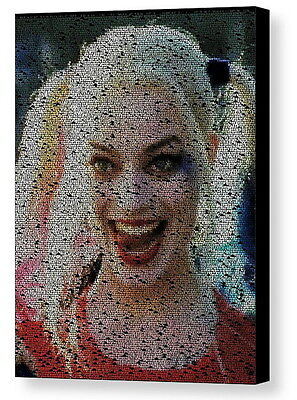 Harley Quinn Suicide Squad Quotes Mosaic Framed 9X11 Limited Edition Art w/COA - Harley Quinn Quotes