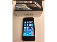 UNLOCKED hardly used and boxed black iPhone 4 16GB in superb condition