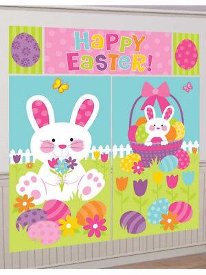 Easter Bunny Easter Egg Scene Setter Wall Decoration Kit 1.8M Tall - Easter Scene Setters