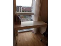 White Ikea Micke desk
